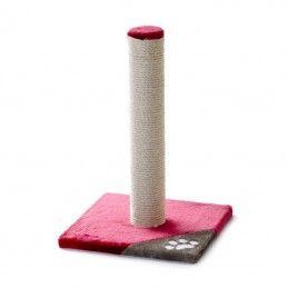 JK Arranhador Caty base com pau vermelho e cinzento