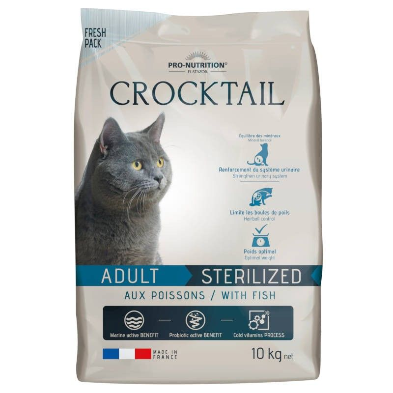 Flatazor Crocktail Cat Adult Sterilised Fish