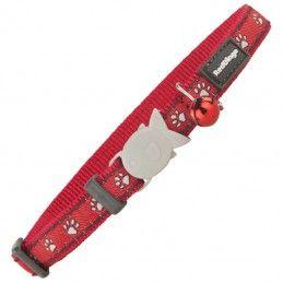 Red Dingo coleira designs paw impressions
