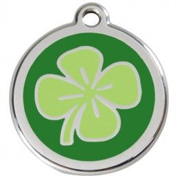 Red Dingo medalha identificadora Clover Green