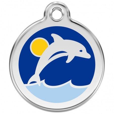 Red Dingo medalha identificadora Dolphin Dark Blue
