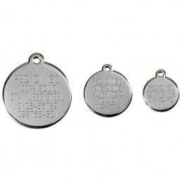 Red Dingo medalha identificadora Atom Black