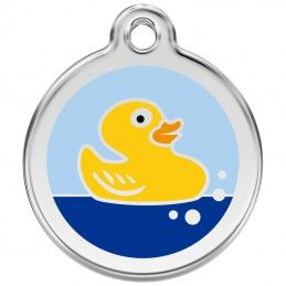 Red Dingo medalha identificadora Rubber Duck Light Blue