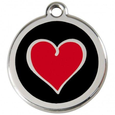 Red Dingo medalha identificadora Heart