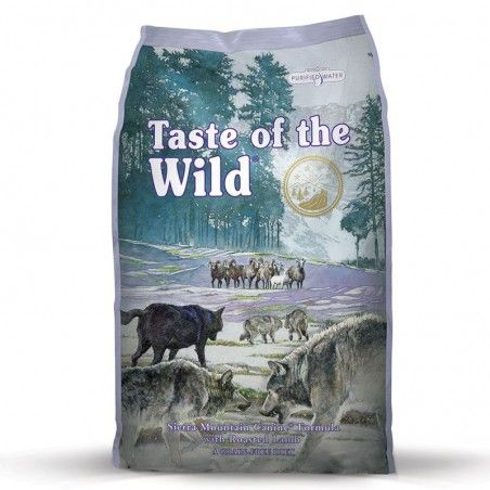 Taste of the Wild Sierra Mountain Adulto Borrego Assado