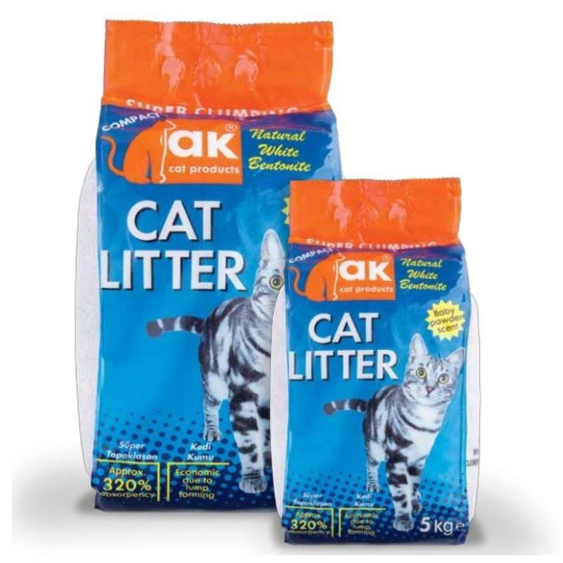AK Cat Litter areia super aglomerante