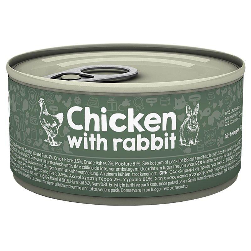 Naturea Cat Chicken & Rabbit wet lata