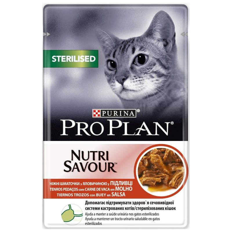 Purina Pro Plan Nutri Savour Sterilised Beef