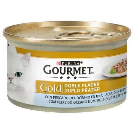 Purina Gourmet Gold Duplo Prazer Peixe do Oceano e Espinafres