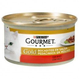 Purina Gourmet Gold Pedacinhos em Molho Carne Vaca