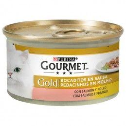 Purina Gourmet Gold Pedacinhos em Molho Salmão e Frango