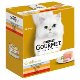 Purina Gourmet Gold Selecção de Mousses Multipack 8x85gr