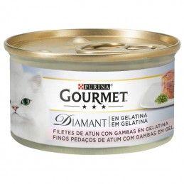 Purina Gourmet Diamant Finos Pedaços Atum em Gelatina com Gambas