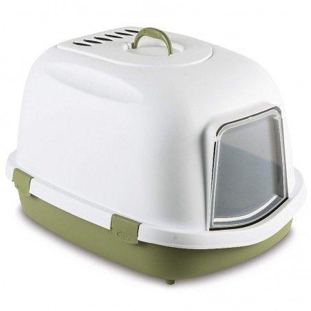 Arquivet Super Queen wc fechado com filtro branco e verde