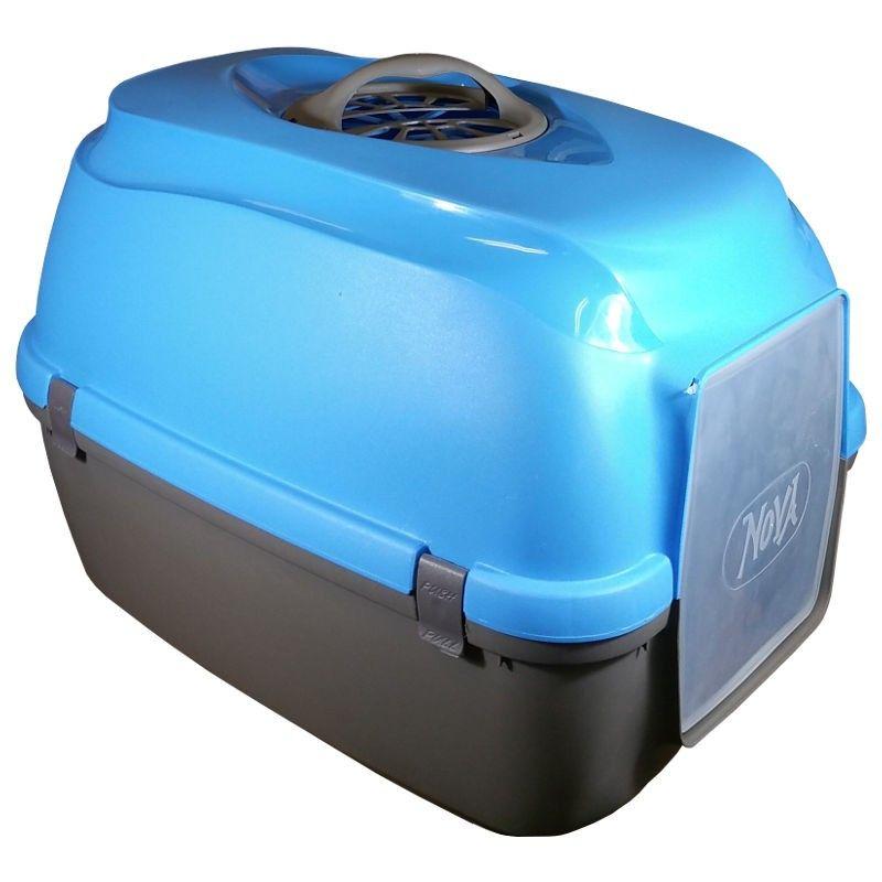 Arquivet Nova wc fechado azul e cinzento com filtro
