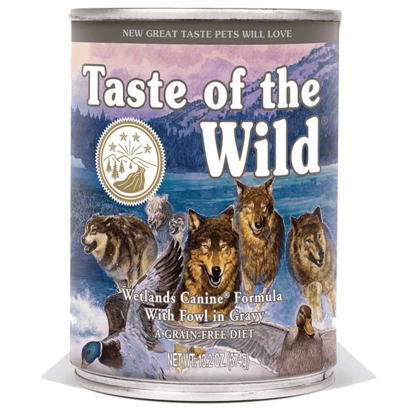 Taste of the Wild Wetlands wet Adulto Pato Assado