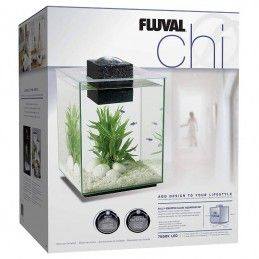 Aquario Fluval Chi com iluminação led 19lt