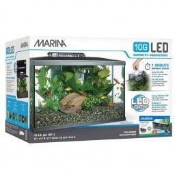 Aquário Marina 10G led kit 38lt