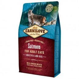 Carnilove Cat Adult Sensitive & Long Hair Salmon