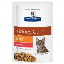 Hill's Prescription Diet Cat K/D Kidney Care Salmon wet saqueta