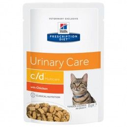Hill's Prescription Diet Cat C/D Urinary Multicare Chicken wet saqueta