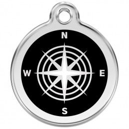 Red Dingo medalha identificadora Compass Black