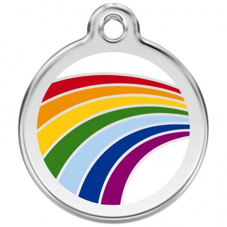 Red Dingo medalha identificadora Rainbow White