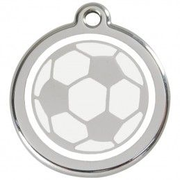 Red Dingo medalha identificadora Soccer Ball White