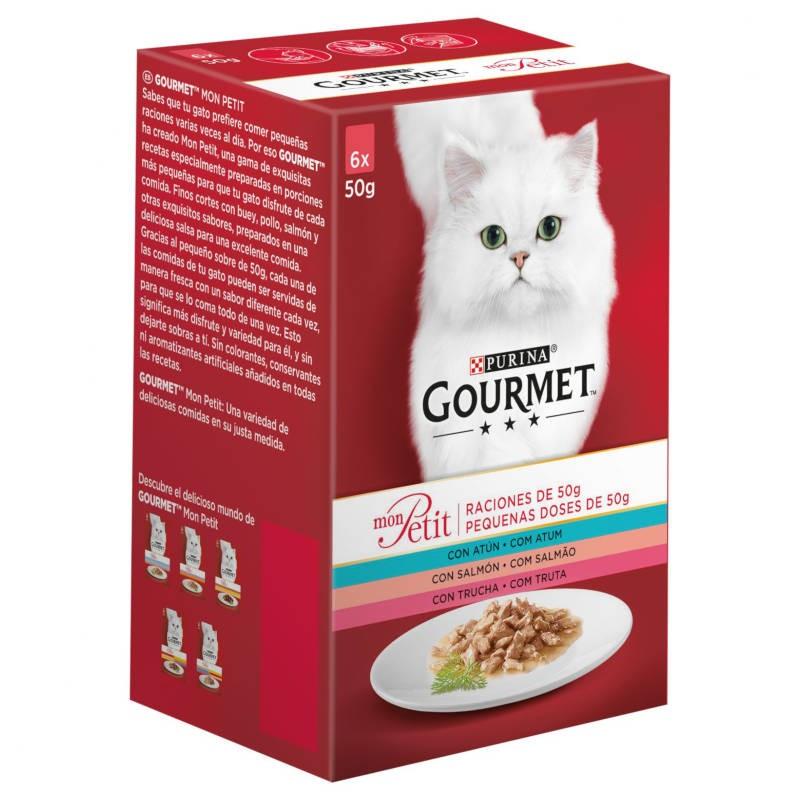 Purina Gourmet Mon Petit Receitas com Peixes Multipack 6x50gr