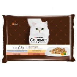 Purina Gourmet A La Carte Receitas do Chef Carne e Peixe 1º Multipack 4x85gr