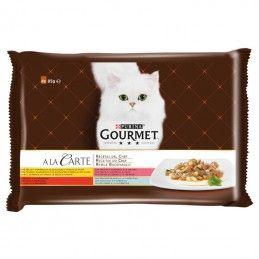 Purina Gourmet A La Carte Receitas do Chef Carne e Peixe 2º Multipack 4x85gr