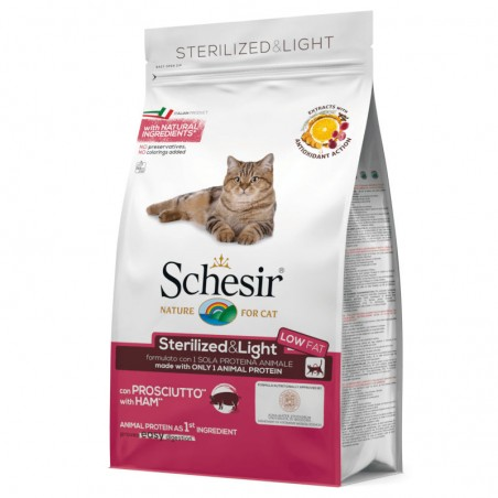 Schesir Cat Adult Sterilised & Light Ham