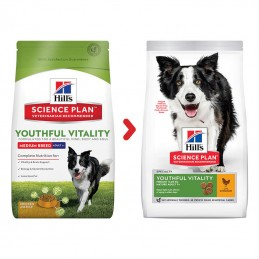 Hill's Science Plan Medium Youthfuld Vitality 7+ Chicken
