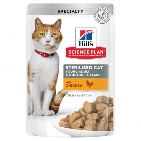 Hill's Science Plan Cat Sterilised Young Adult Chicken wet saqueta