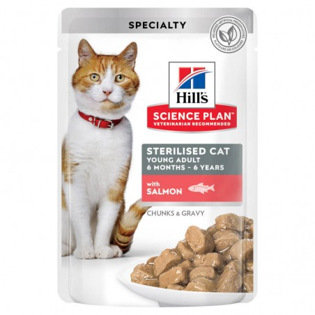 Hill's Science Plan Cat Sterilised Young Adult Salmon wet saqueta