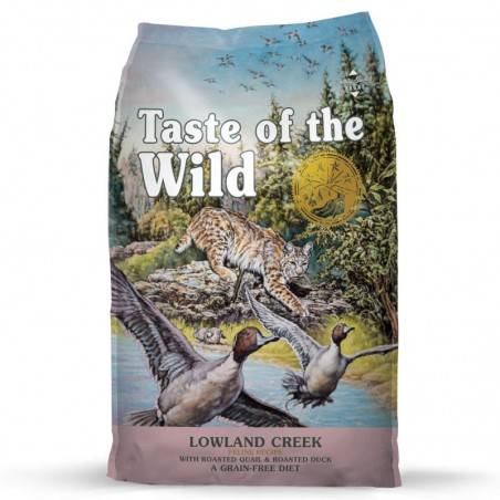 Taste of the Wild Cat Lowland Creek Codorniz & Pato Assado