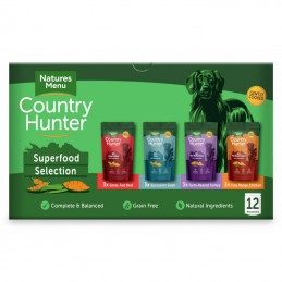 Natures Menu Country Hunter Superfoods Multipack saquetas 12x150gr