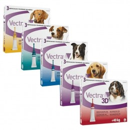 Vectra 3D pipetas antiparasitárias para cães