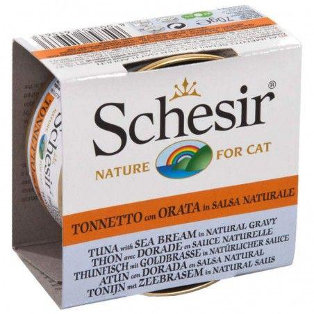 Schesir Cat Atum com Dourada em molho natural wet lata
