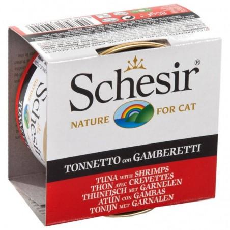 Schesir Cat Atum com Gambas em gelatina wet lata