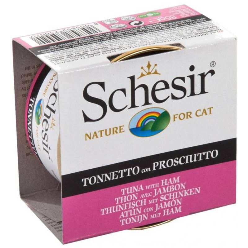 Schesir Cat Atum com Presunto em gelatina wet lata