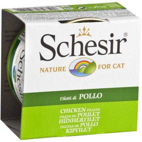 Schesir Cat Filetes de Frango em gelatina wet lata