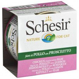 Schesir Cat Filetes de Frango com Presunto em gelatina wet lata