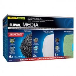 Kit cargas filtrantes 6 meses para filtro Fluval Serie 07 modelos 107 e 207