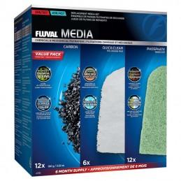 Kit cargas filtrantes 6 meses para filtro Fluval Serie 07 modelos 307 e 407