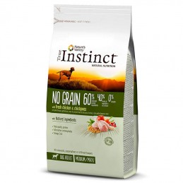 True Instinct Dog no Grain Adult Medium & Maxi Chicken & Chickpeas