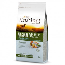 True Instinct Dog no Grain Adult Medium & Maxi Salmon & Potato