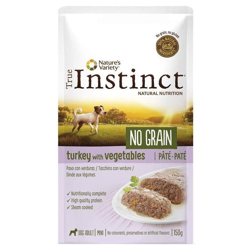 True Instinct Dog no Grain Adult Mini Turkey wet