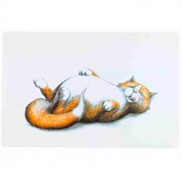 Trixie tapete em plástico para gamelas Gato Deitado