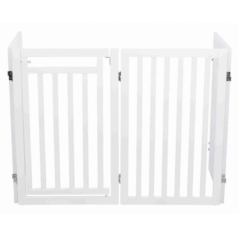 Trixie barreira em MDF com 3 painéis e porta